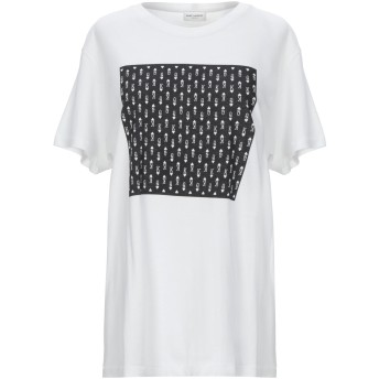 《期間限定セール開催中!》SAINT LAURENT レディース T シャツ ホワイト L コットン 100%