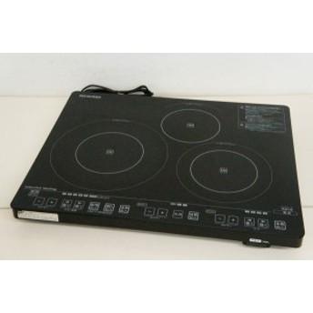 【中古】アイリスオーヤマ 3口卓上IH調理器 IHC-S313V-B IHクッキングヒーター ブラック