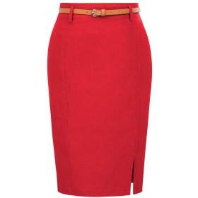 スカートスーツ リクルートスーツ スカート 面接 就職活動 ビジネス 通勤 リクルート レッド L KK856-3
