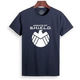 CCOMFO アメリカ ドラマ Agents of S.H.I.E.L.D. SHIELD S.H.I.E.L.D. メンズ/レディース Tシャツ/夏服 スポーツ Tシャツ ブラック/半袖 Tシャ