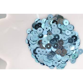 スパンコール 約1100枚(約4g) 丸 4mm メタリック水色(SCC04TWTJQ00)