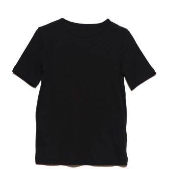 リネーム Rename クルーネックストレッチTシャツ (ブラック)