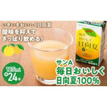 サンA毎日おいしく日向夏100%(24本セット (125ml))