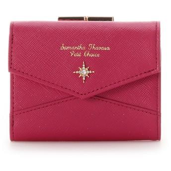 サマンサタバサプチチョイス サマンサ トゥウィンクル がま口折財布 マゼンタ