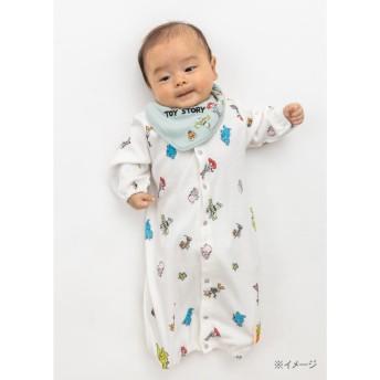 ベビーザらス限定 ディズニー スタイ付き新生児ドレス カラフル総柄 トイ・ストーリー(グリーン×50-70cm)【送料無料】