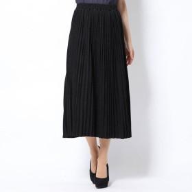 スタイルブロック STYLEBLOCK ラメポンチプリーツスカート (ブラック)