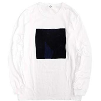 [クオン] 日本製 1802T01 BORO BOX Tee ボロ ボックス インディゴ染め 藍染 襤褸 刺し子 Tシャツ 長袖 カットソー ホワイト XL ky190214-2
