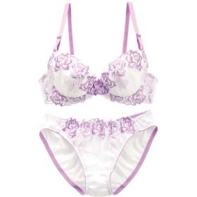 (プリンセスラボ)Princess Labo 大花刺繍 ブラジャー ショーツ セット BCD 盛りブラ 谷間ブラ アンダー大き