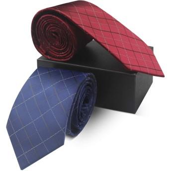 YeeVanti ネクタイ 2本セット ビジネス 高級 おしゃれ メンズ ネクタイ プレゼント 高級 洗える (2本セットC)