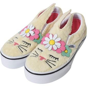 [バンズ] KIDS SP'19 キッズ (VN0A3MVYVJ8) SLIP-ON BUNNY (Flower Crown) Vanilla Custard スリッポン バニー うさぎ お花 12(18.3cm) [並行輸入品]