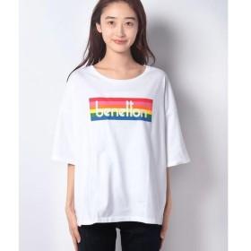[マルイ] レインボーブランドロゴTシャツ・カットソー/ベネトン レディース(UNITED COLORS OF BENETTON)
