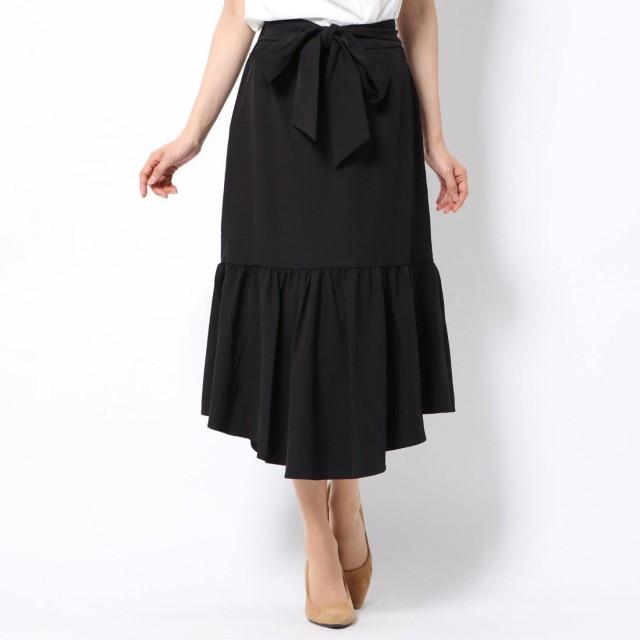 ミーア MIIA ベルト付きマーメイドスカート (ブラック)