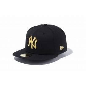 ニューエラ(NEW ERA) 59FIFTY MLB ニューヨーク・ヤンキース ブラック × ゴールド 11308572