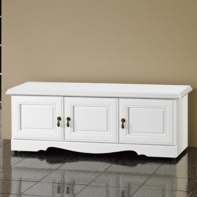 AS-卡特烤白4尺座式鞋櫃-114x41.4x45cm