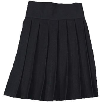 Sister Amy(シスター・エミ)レディース スクール スカートスクールスカート 学生服 スカート 高校生 学生 中学 プリーツ スクール スカート 学生服 女子高生 制服 無地 チェック A-ブラック XS