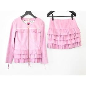 ドーリーガール DOLLY GIRL スカートセットアップ サイズ2 S レディース 新品同様 ピンク ティアード【中古】20190812