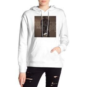 春、夏、秋、冬の女性用アウター、ストリートレディースポリエステルパーカー 音楽DJ Avicii ポケットポップの女性の上着とキャップ