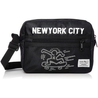 (プロダクティワランティ) PRODUCTY WARRANTY 【Keith Haring/キースヘリング】 横型 メッシュポケット ショルダーバッグ KHB-KH1814KHB-KH1815 FREE ブラック