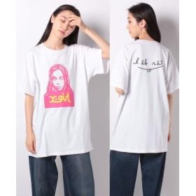 (X-girl/エックスガール)X-girl x LABRAT FACE S/S TEE/レディース ホワイト 送料無料