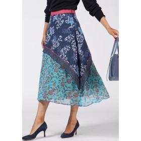 Viaggio Blu ミックスペイズリープリントスカート