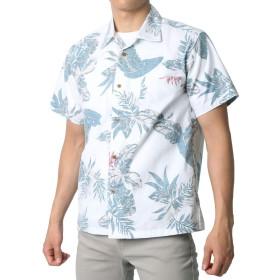 [ルーシャット] アロハシャツ コットン 裏使い 総柄プリントシャツ 柄A M