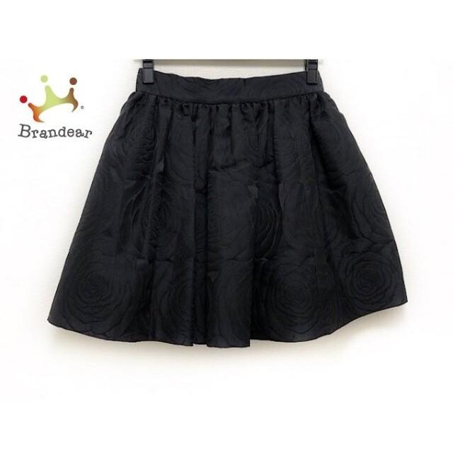 ケイトスペード Kate spade スカート サイズ0 XS レディース 美品 黒 フラワー 新着 20190814