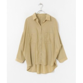(ITEMS URBANRESEARCH/アイテムズ アーバンリサーチ)2WAYカシュクールポケットシャツ/レディース BEG
