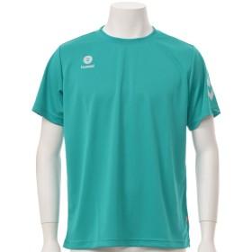 ヒュンメル メンズ ワンポイント半袖Tシャツ