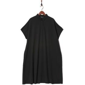 MARTHA・Sneak オーバーサイズポロマキシワンピース○16637 ブラック ワンピース