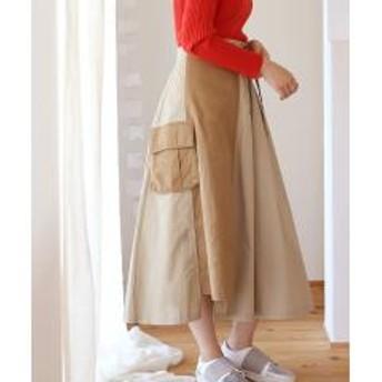 ◆主役級のデザイン◆配色アシンメトリーデザインスカート