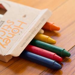 紐西蘭Honey Sticks 純天然蜂蠟無毒蠟筆-6歲以上學童適用 (8色-細長款)