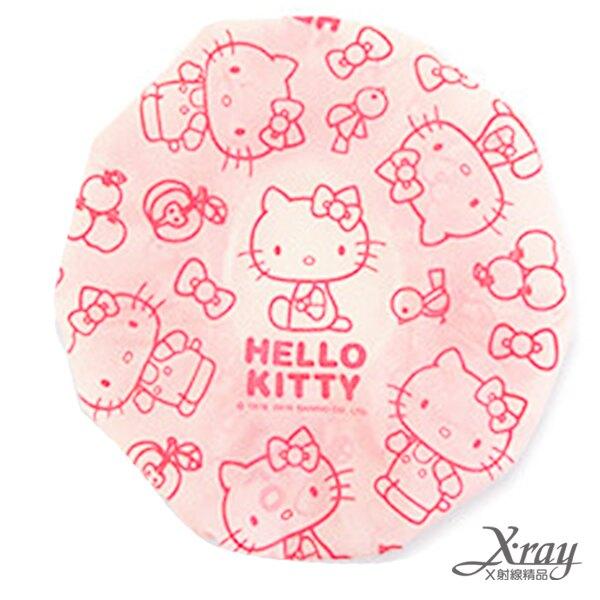 Hello Kitty浴帽(粉),衛浴用品/鬆緊浴帽/洗澡/護髮/防潑水,X射線【C263871】