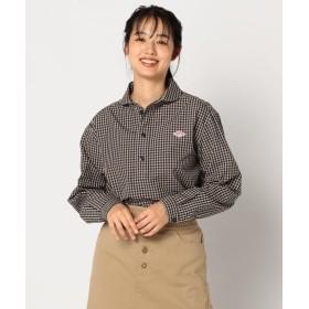 フレディアンドグロスター 丸えりGINGHAMシャツ #JD 3564 PGM レディース ブラック・グレー系1 38 【FREDY & GLOSTER】