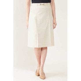NATURAL BEAUTY ◆トリコットステッチポイントスカート ひざ丈スカート,ベージュ
