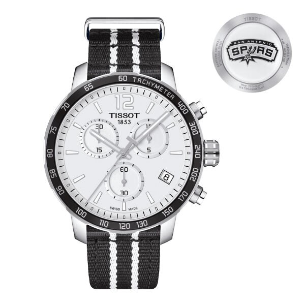 TISSOT天梭T0954171703707 馬刺隊特別版計時腕錶/白面42mm