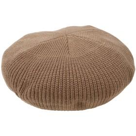 ベレー帽 - coca くったりやわらかニットベレー帽(ハット キャップ 帽子 ぼうし 無地 畦編み ベージュ ブラック フリーサイズ 18aw cocaコカ)