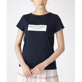 (BLUE LABEL BLACK LABEL CRESTBRIDGE/ブルーレーベル ブラックレーベル クレストブリッジ)ボックスロゴTシャツ/レディース ネイビー