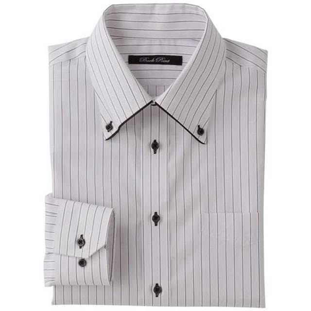 30%OFF【メンズ】 形態安定デザインYシャツ(ゆったりシルエット)(長袖) - セシール ■カラー:ライトグレー ■サイズ:50(裄丈88),43(裄丈82),45(裄丈84),43(裄丈84)