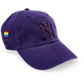 NY ヤンキース Pride キャップ パープル