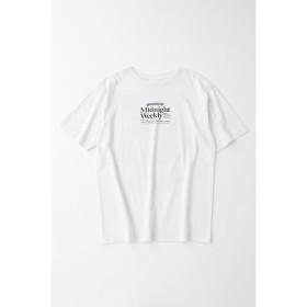 マウジー NEWS PAPER AD Tシャツ レディース WHT FREE 【MOUSSY】