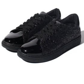 【54%OFF】 シュークロ グリッタースニーカー レディース ブラック LL 【Shoes in Closet】 【セール開催中】