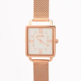 [マルイ] RETRO TIME メッシュベルトウォッチ/腕時計(ピンクゴールド)/フォリフォリ(Folli Follie)
