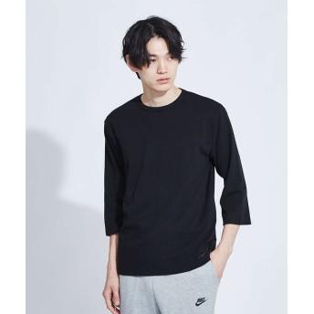 アバハウス ストレッチタックフライスハーフスリーブTシャツ メンズ ブラック 48 【ABAHOUSE】