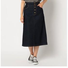 【FREDY & GLOSTER:スカート】デニム前ボタンミディ丈スカート