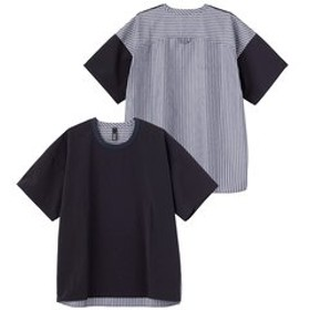 【SILAS:トップス】SS STRIPE WOVEN TEE