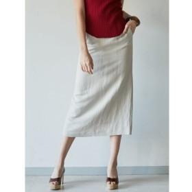 【ラグナムーン/LAGUNAMOON】 ボタンスリットLinenタイトスカート