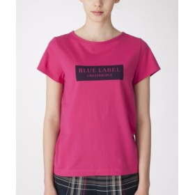 (BLUE LABEL BLACK LABEL CRESTBRIDGE/ブルーレーベル ブラックレーベル クレストブリッジ)ボックスロゴTシャツ/レディース ピンク