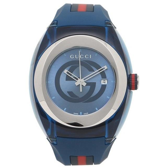 「P10%還元 11/17 20時〜24時」 【返品OK】 グッチ 腕時計 レディース メンズ GUCCI YA137104 ブルー