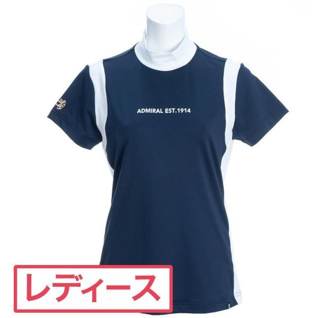 アドミラル Admiral シグネチャー ストレッチ半袖ハイネックシャツ レディス