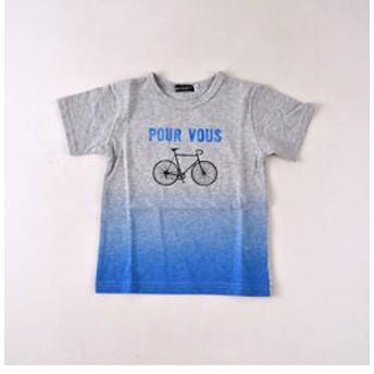 【BEBE ONLINE STORE:トップス】スラブ天竺自転車プリントTシャツ
